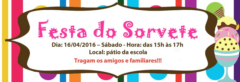 Banner Festa do Sorvete 2016