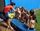 Dia de Sol na Praia - Hora do lanche e do banho!