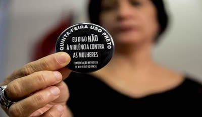 Quinta uso preto. Eu digo não  à violência contra as mulheres
