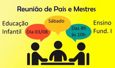 Reunião de pais - Educação Infantil e Ens. Fund. I