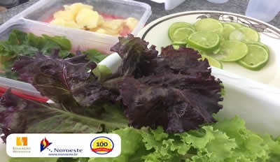 Turmas da Educação Infantil período da tarde fazem receitas com hortaliças do projeto Cantinho Verde
